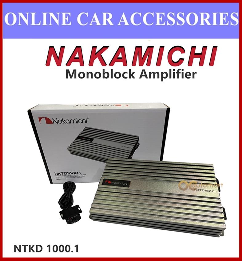 NAKAMICHI Digital Mono Block Class D Car Amplifier 1000 Watts NKTD 1000.1 High Power Monoblock Amplifier