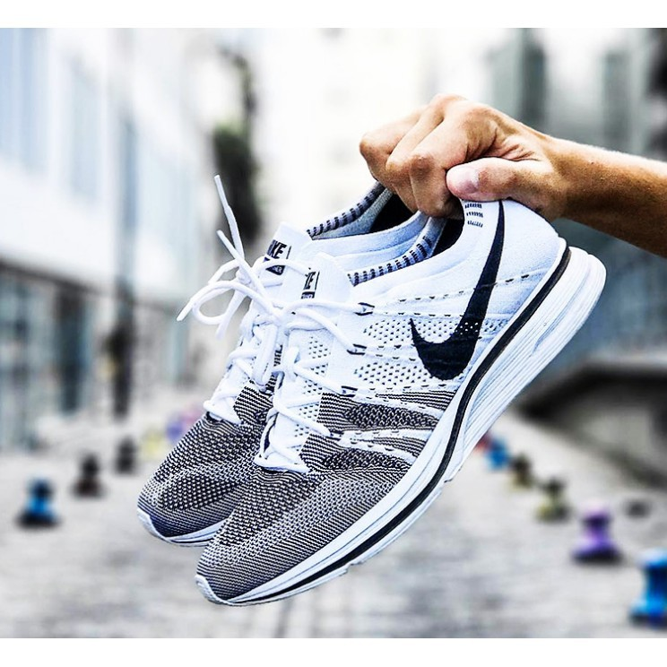 7 Colors Nike Flyknit Trainer Weaving Running Shoes Men Women Sneakers