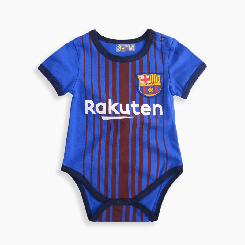new arrival c4ffd d5350 Cotton Newborn Baby Romper Barcelona NO.10 Messi Jersey Infant Football  Clothing