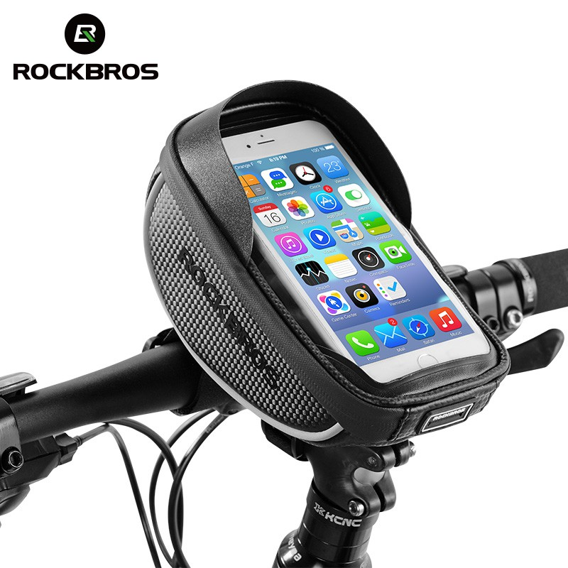 RockBros Bike Frame Pannier Tube Bag with 5.8/'Touch Screen Phone Bag Yellow