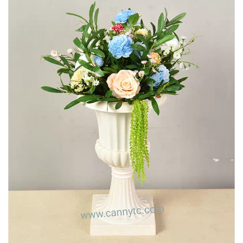 English Style Vase Large Size Height 58cm x 35cm (White Colour)