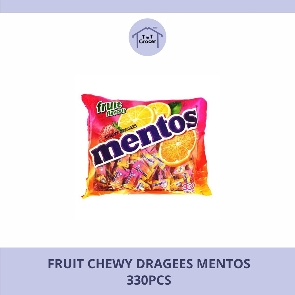 Fruity Chewy Dragees Mentos (330pcs)