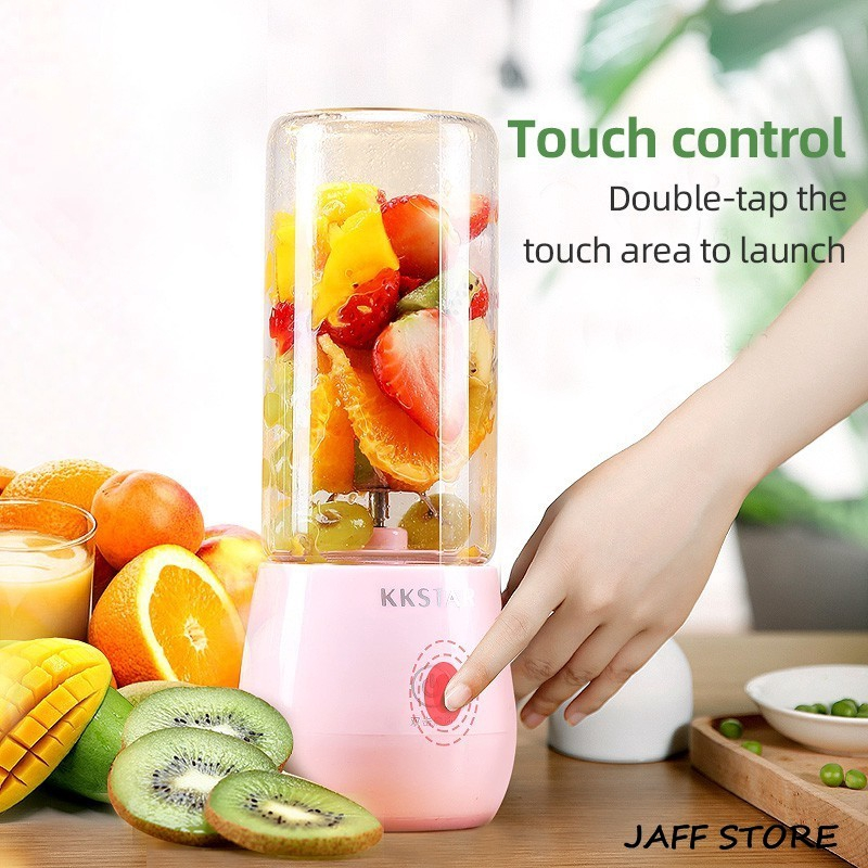 [Ready Stock] 400ML Portable Usb Electric Waterproof Fruit Juicer Cup Bottle Mixer Rechargeable Juice Blender