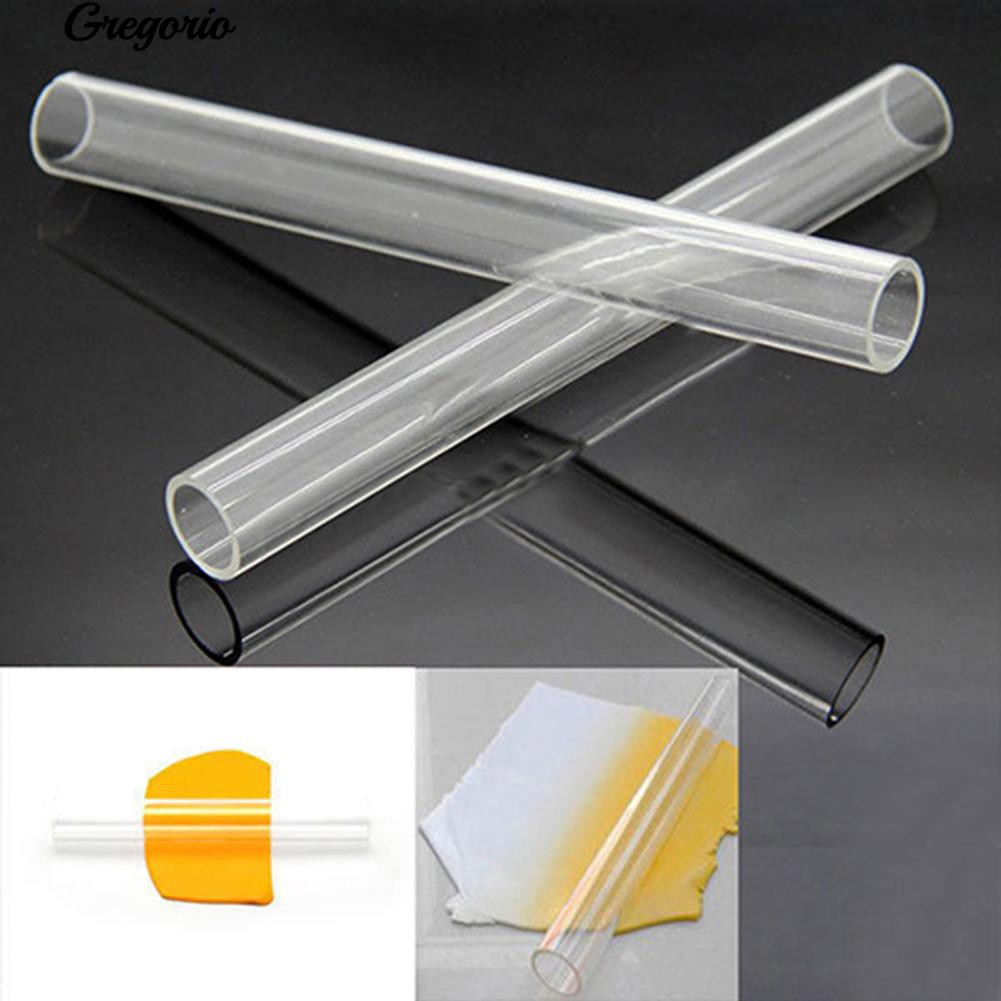 Use Acrylic Clear Sculpey Polymer Clay Rolling Pin Roller Stick DIY Craft Tool
