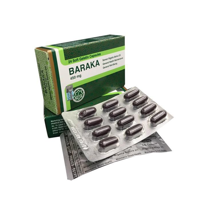 BARAKA KAPSUL 450MG 24SOFTGEL 100% ORIGINAL HQ+FREEGIFT