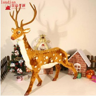scene elk Christmas tree decorations Christmas deer cart props Christmas gifts | Shopee Malaysia