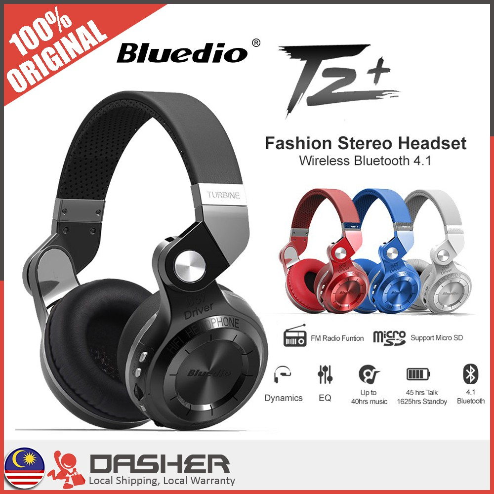 Bluedio T5 Active Noise Cancelling Wireless Bluetooth Headphones Ufo Premium Headset High End With Microphone Shopee Malaysia