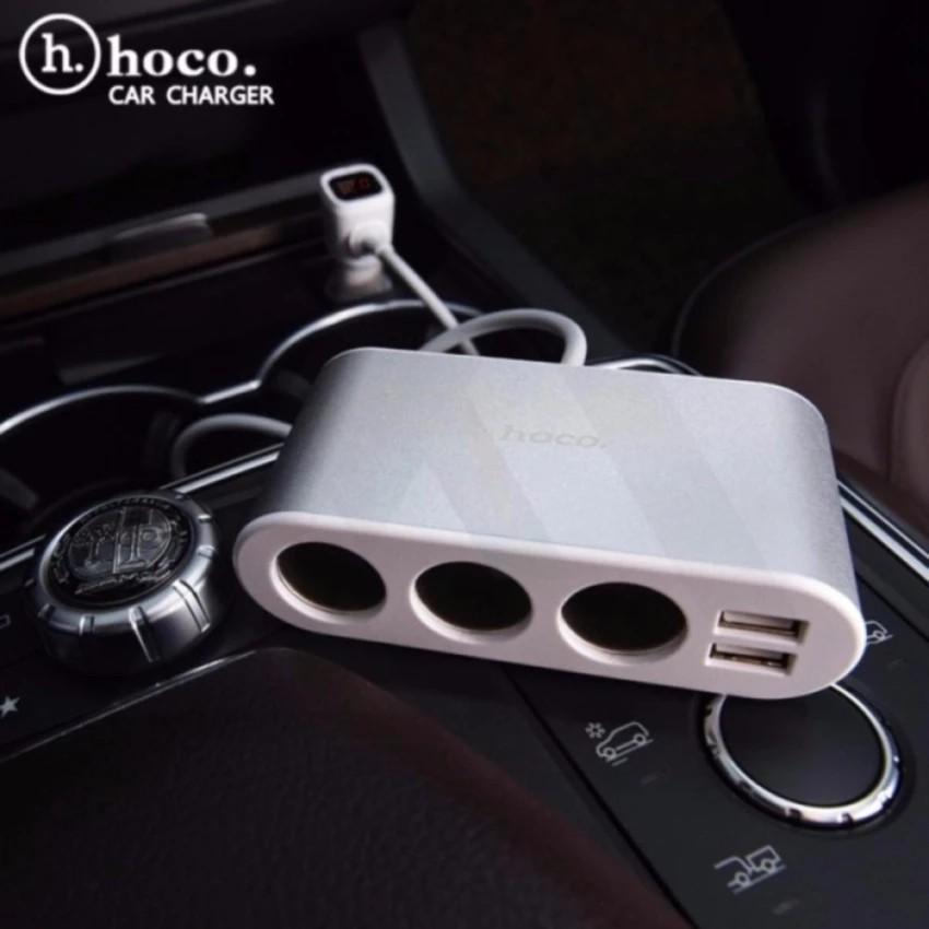 Hoco Car Charger LCD รุ่น Z13 (สีขาว/เงิน)