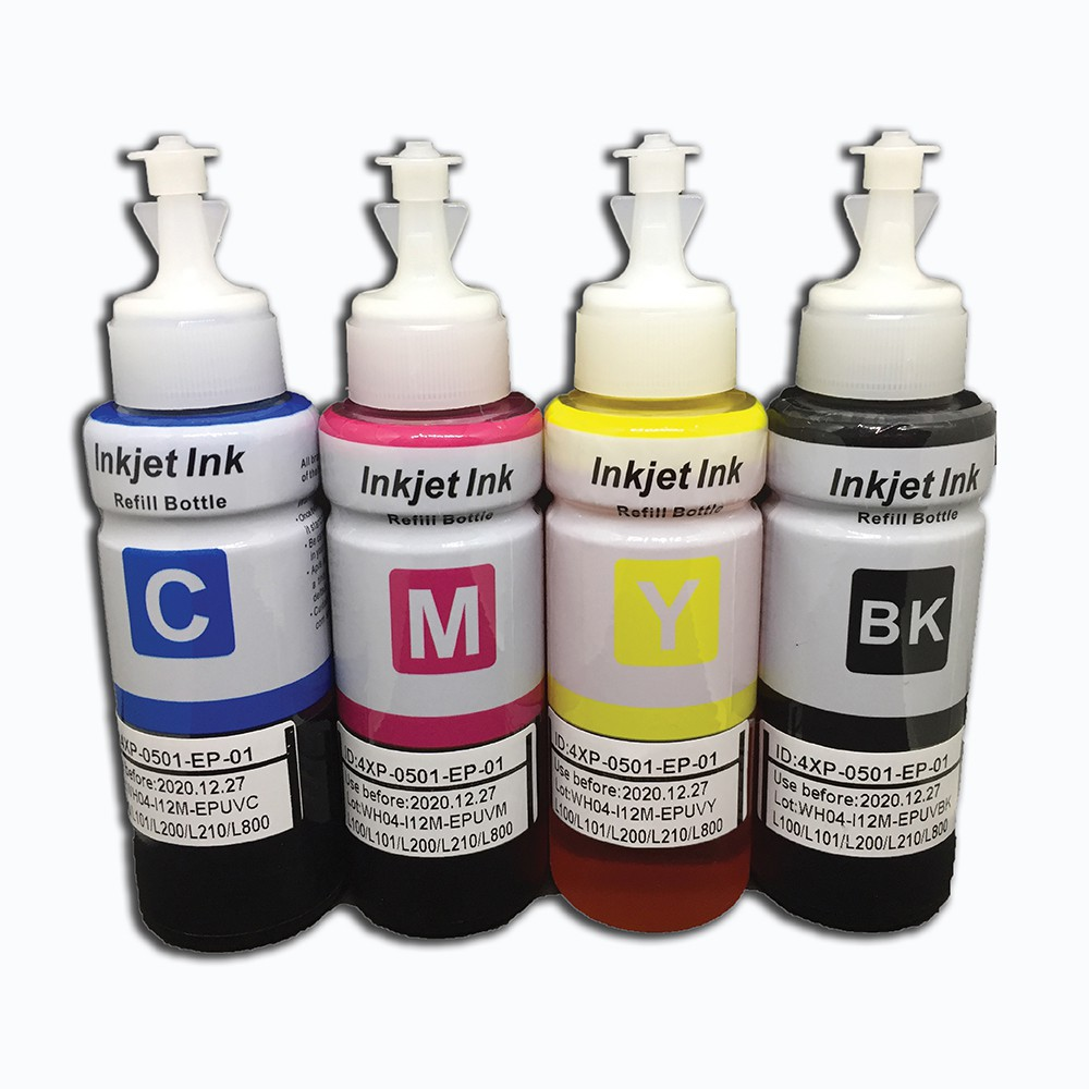 Epson Ink CMYK 1 Set Bulk Pack L120 / L220 / L360 / L365 / L565