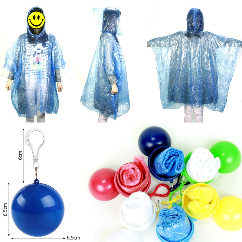 CHILDRENS KIDS BLUE PONCHO WATERPROOF REUSABLE VINYL PLASTIC ONE SIZE