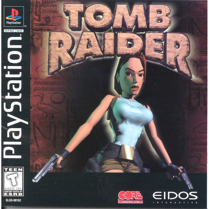 PS1 Game Tomb Raider, Action Adventure Game, English version / PlayStation 1