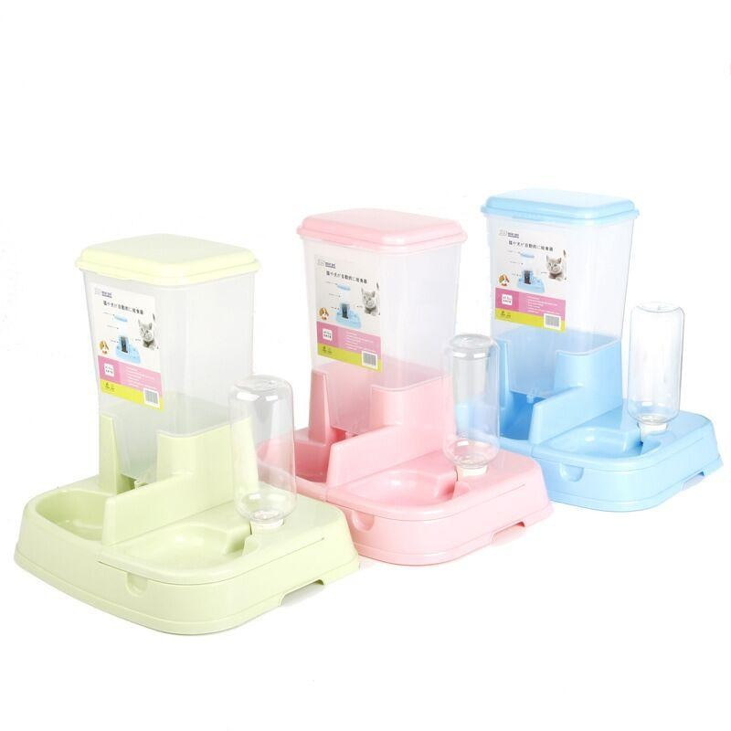 Automatic Pet Food Water Feeder Dispenser Cat Kitten Dog Puppy Auto Pets Drinking Fountain Food Dish Bowl Supplies Large
