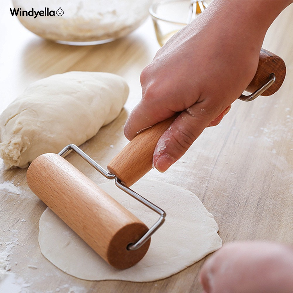 Hot Home Wooden Rolling Pin Push Dough Roller Fondant Pizza Kitchen Baking Tool