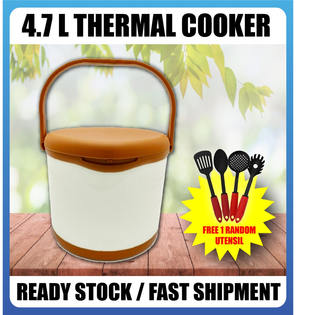 [READY STOCK] [FREE GIFT] 4.7 L/ Thermal Cooker/ Retention Heat & Cold up to 7 Hours