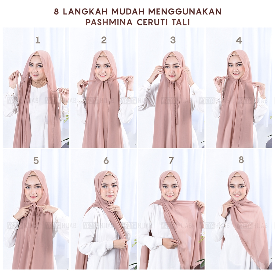 Pashmina Tali Ceruty Shopee Malaysia