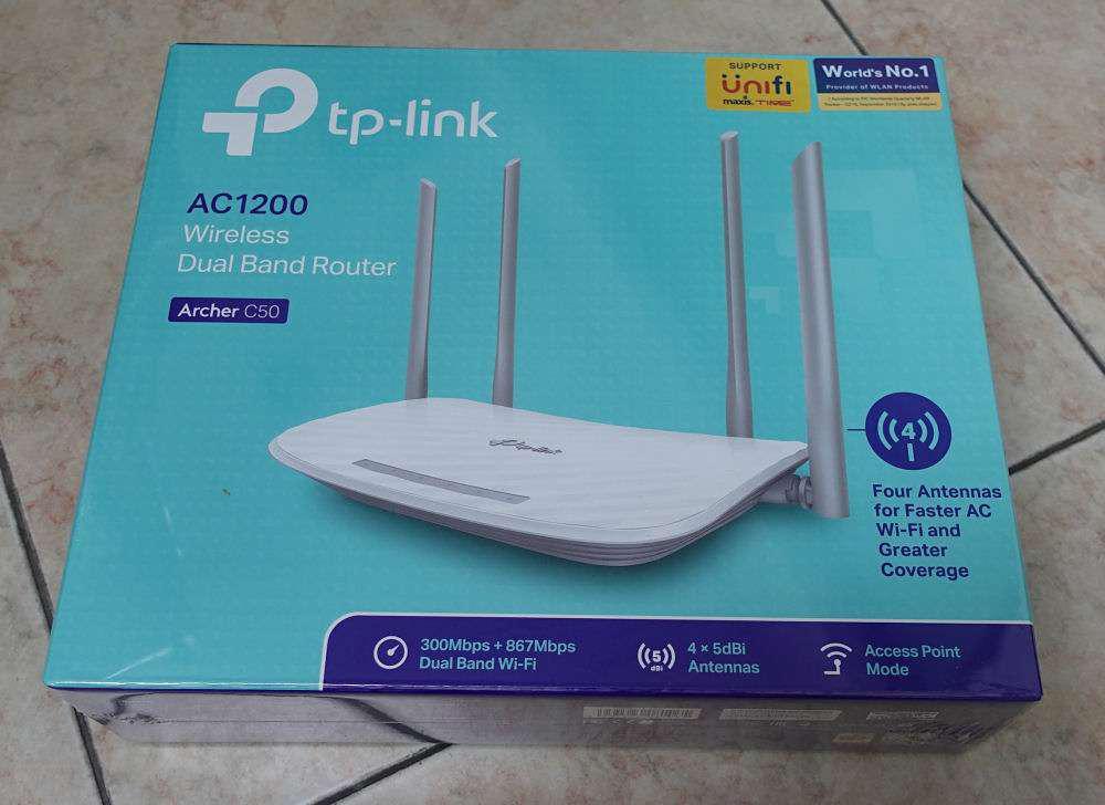 TP-Link Archer C50 AC1200 2 4 + 5Ghz Dual Band Wireless WiFi