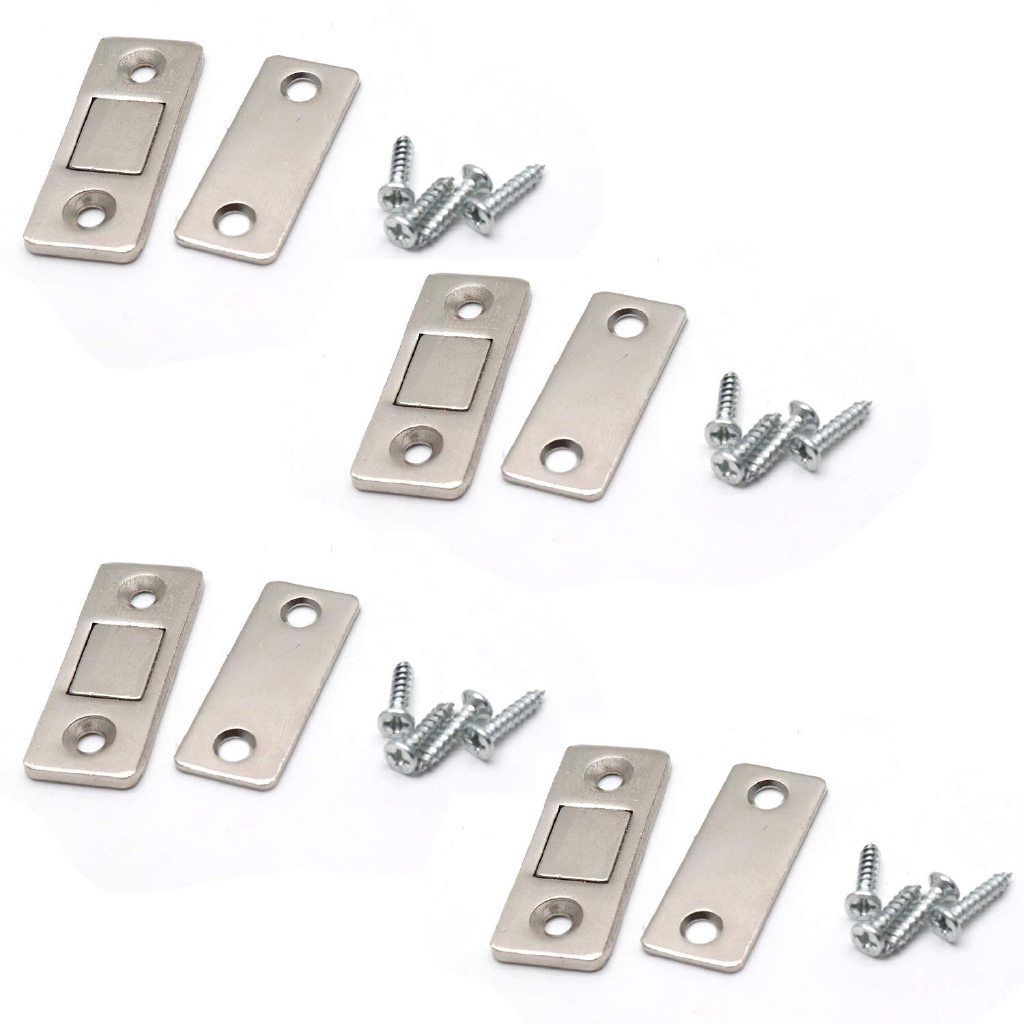 Door Magnet Ultra Thin Door Catch Latch Strong Magnetic Catch For Cabinet Cupboard Pack Of 4