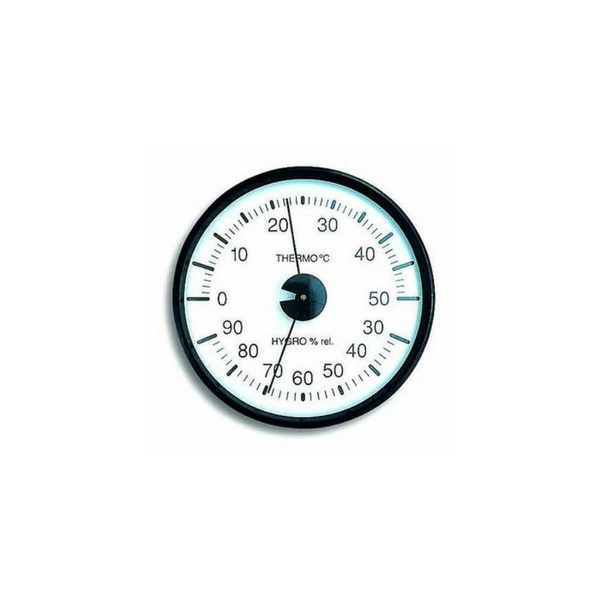 Thermohygrometer- Plastic Casing, D100mm, 0/50°C, humidity 30-90%