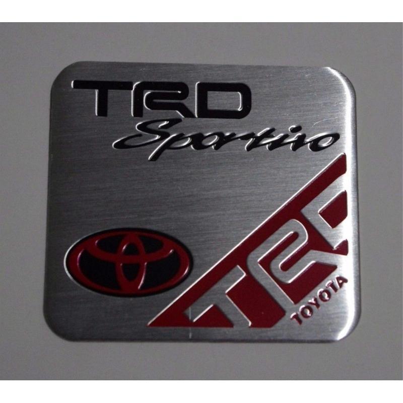 TRD CHROME  LOGO EMBLEM DECAL TOYOTA REVO VIGO FORTUNER 2012-ON