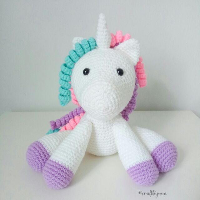 Ravelry: Lil Fluffy Unicorn Amigurumi pattern by Lisa Jestes | 640x640
