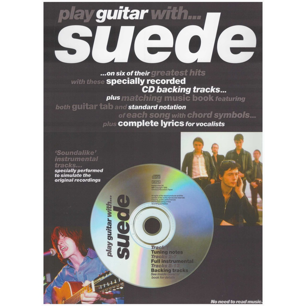 Play Guitar With... Suede / Vocal Book / Voice Book / Guitar Book