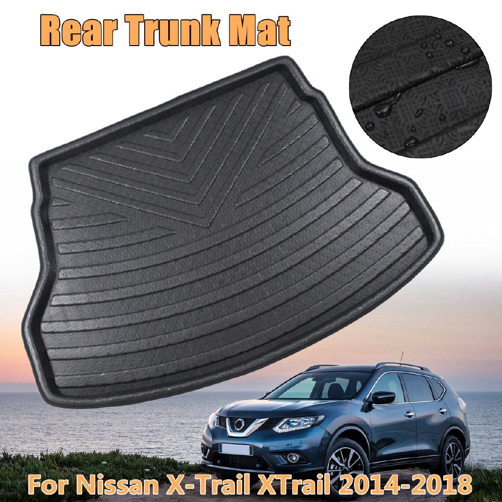 Car Rear Boot Liner Trunk Cargo Mat Tray Floor Carpet Mud Pad Protector For Mazda Cx5 2017-2018 Interior Accessories