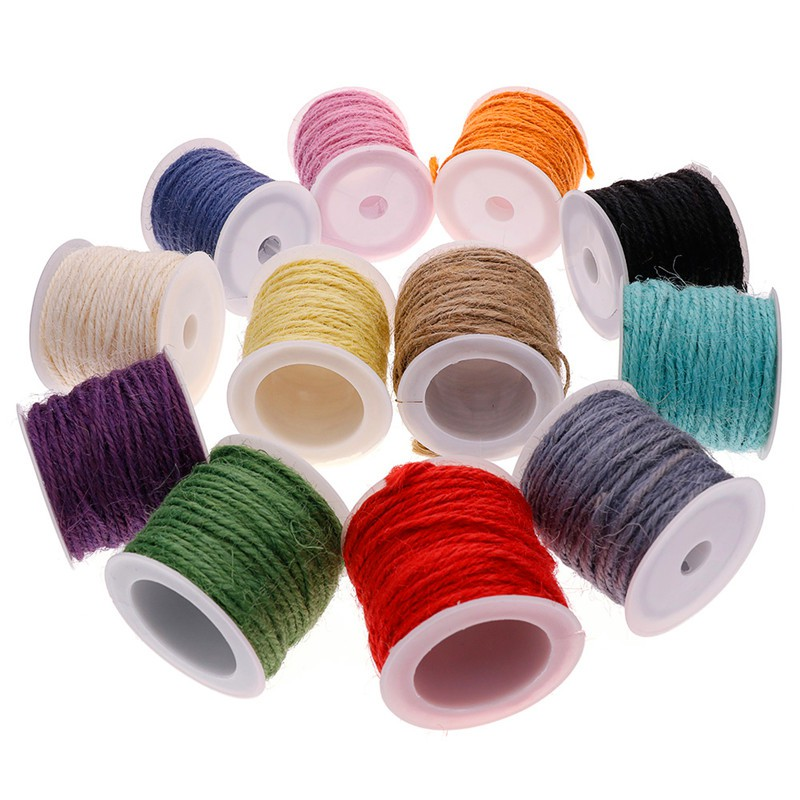 12 Colors 10m Paper String Rope Twine Sewing Craft DIY Accessories