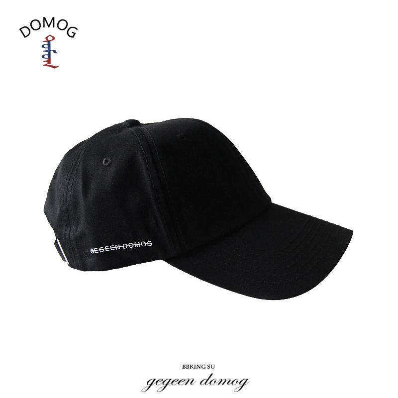 European and American Style Caps Street Retro Soft Top Bend Hat Black Baseball Cap Men and Women Hat Tide Color : Black