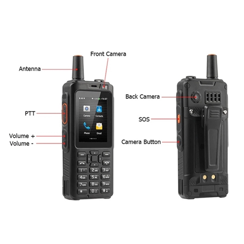 ZELLO F40 7S+ 4G LTE Network Walkie Talkie + Android Smart Phone
