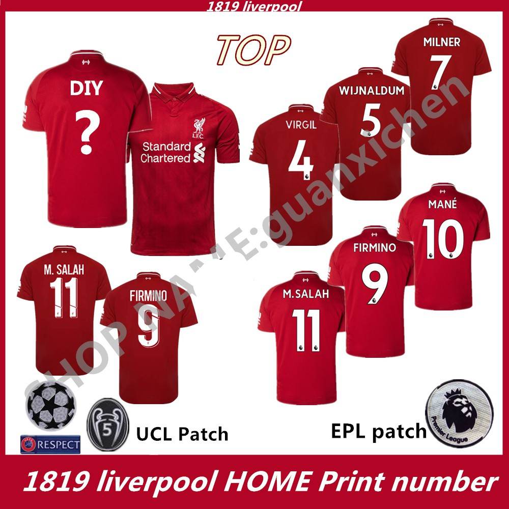 quality design b10eb 9bd2f 1819 Best Quality Liverpool Home Soccer Jersey Football Jersey