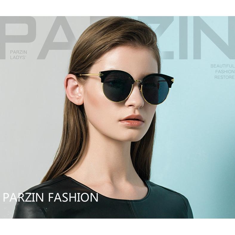cad2538c5 Vintage Polarized Sunglasses for Women Round Metal Frame Eyewear PARZIN |  Shopee Malaysia