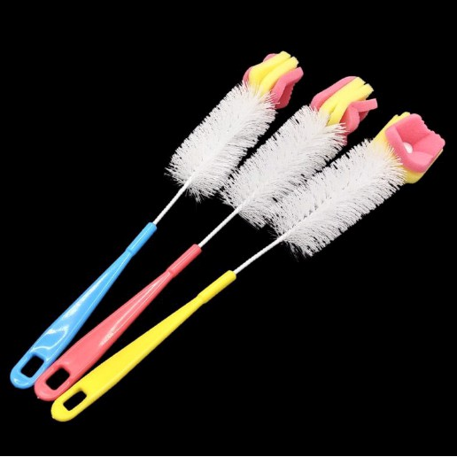 Bottle Cup Glasses Kettle Cleaning Brush With Sponge