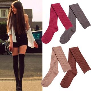 653fcefc2 Warm Cotton Knit Over Knee Stockings Thigh High Socks | Shopee Malaysia