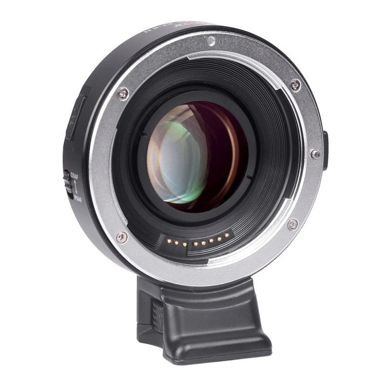 VILTROX EF-E II Electronic Lens Adapter Focal Reducer Booster for Canon EF Mount Lenses to Sony E Mount APS-C Camera Body with PDAF/&CDAF Focus Mode and USB Update Port