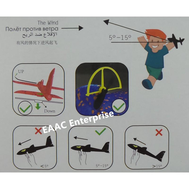 DIY Biplane Glider Foam Rechargeable Electric Aircraft Aeroplane