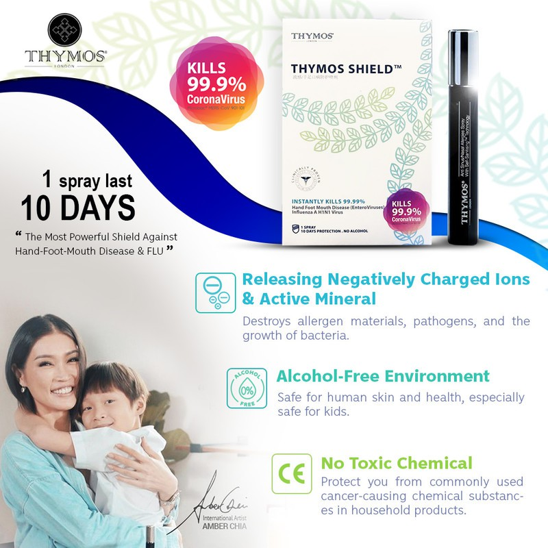 【Clinical Proven Sanitiser FREE 15 Face Cover】2x 10mL Thymos + 1x Degerms 500mL