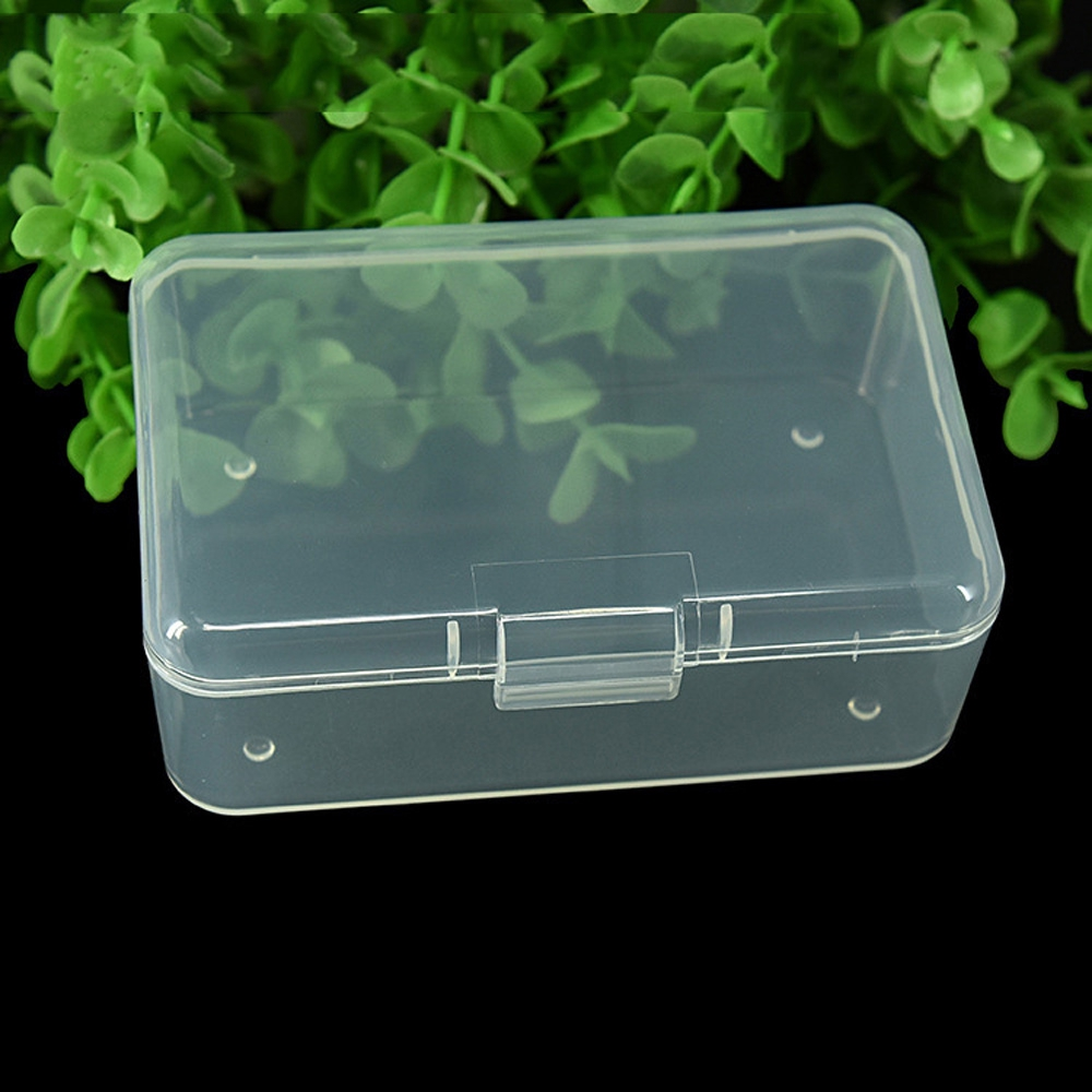 Small Practical Plastic Clear Transparent Collection Container Case Storage Box