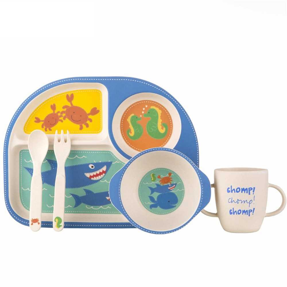 Bamboo Dinnerware Set For Kids 5pcs