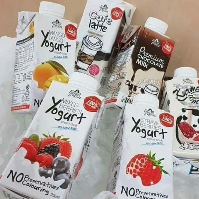 Farm fresh milk 200 ml x 24 Susu UHT FARM FRESH