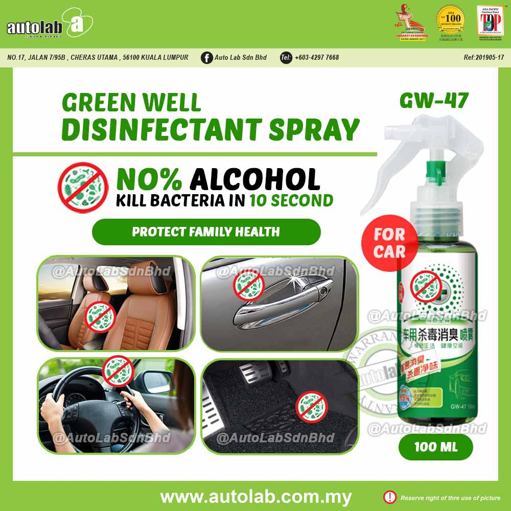 Green Well 99% Anti-Bacteria Disinfectant Spray 100ml GW-47