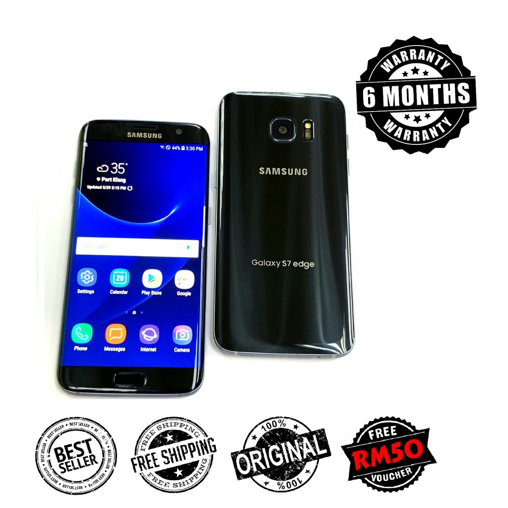 Original Samsung S7 Edge G935 Android 8.0 Oreo Full Set 4GB RAM Refurbished [ 6 Month Warranty ] FREE RM50 Voucher