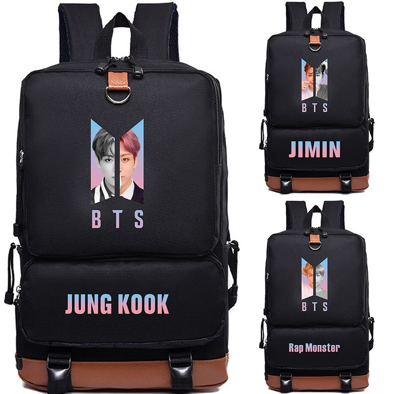 Backpacks Luggage & Bags New Bts Bangtan Boys Love Yourself Answer Jungkook Jimin Same Students Cool Shopping Travel Bag Backpack Harajuku Canvas Bag