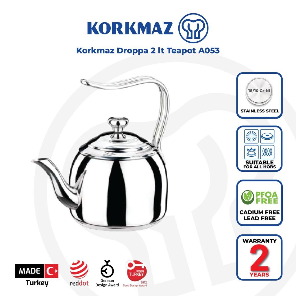 Korkmaz Droppa 2 lt Teapot A053