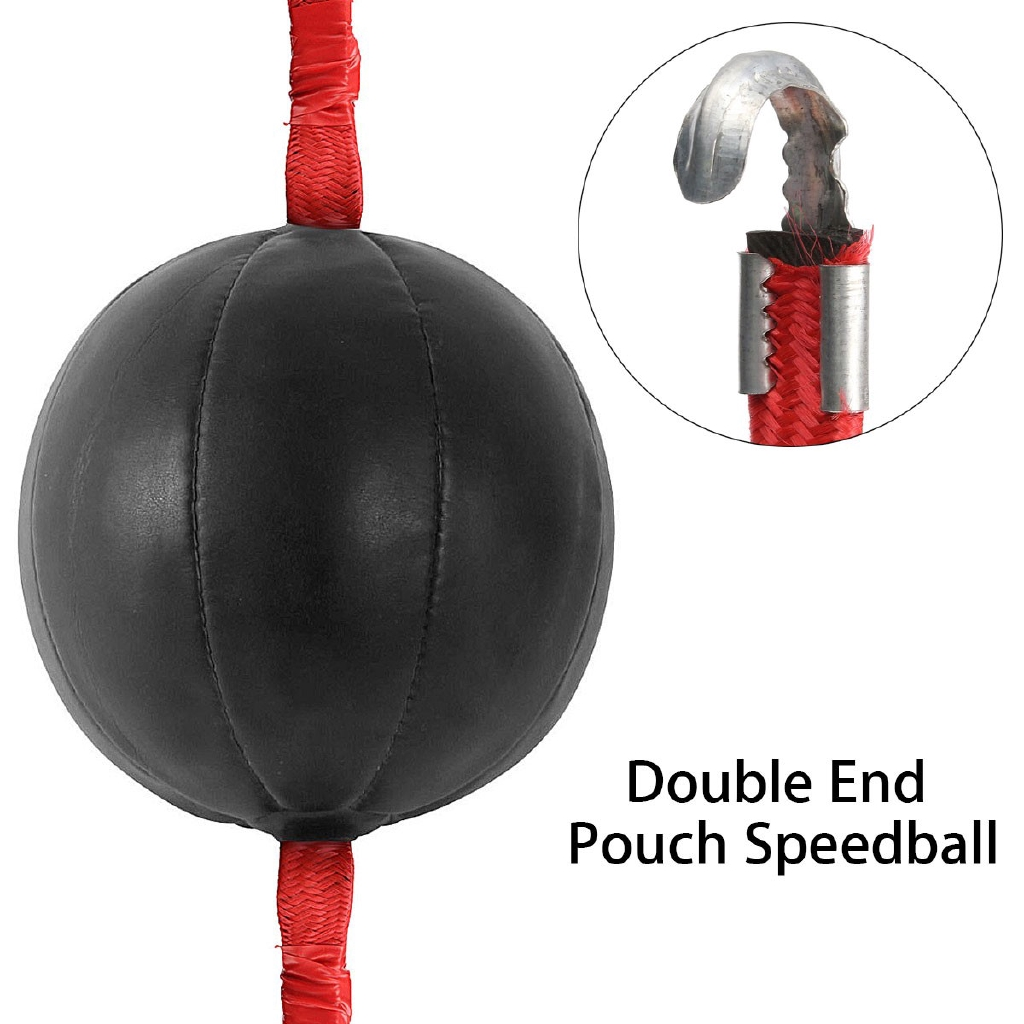 Double End Punching Speed Ball Striking Solid Leather MMA Boxing Training Kit