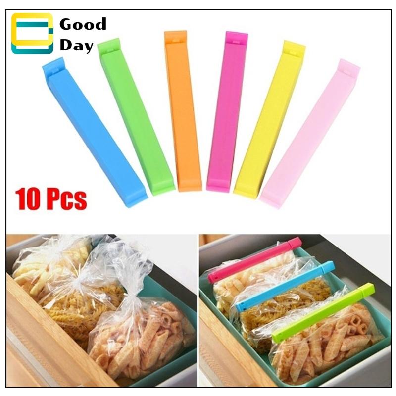 10PCS Stainless Steel Food Sealing Storage Clips Snack Bag Sealer Grips Supplies