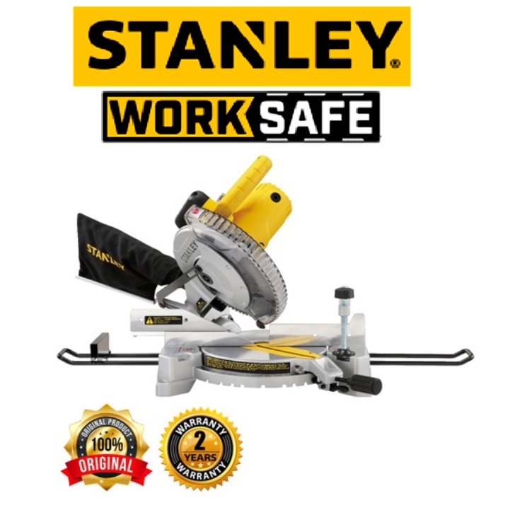 STANLEY SM16 MITER SAW 10 IN COMPOUND MITER SAW  EASY USE SAFETY GOOD