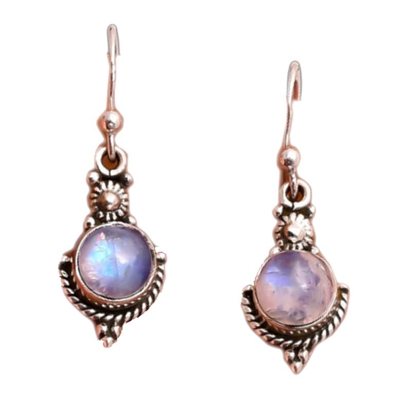 Rainbow Moonlight Jewelry Ring Earrings
