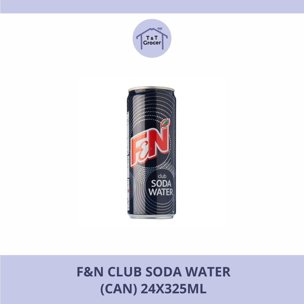 F&N Club Soda Water Can Drinks 24x325ml