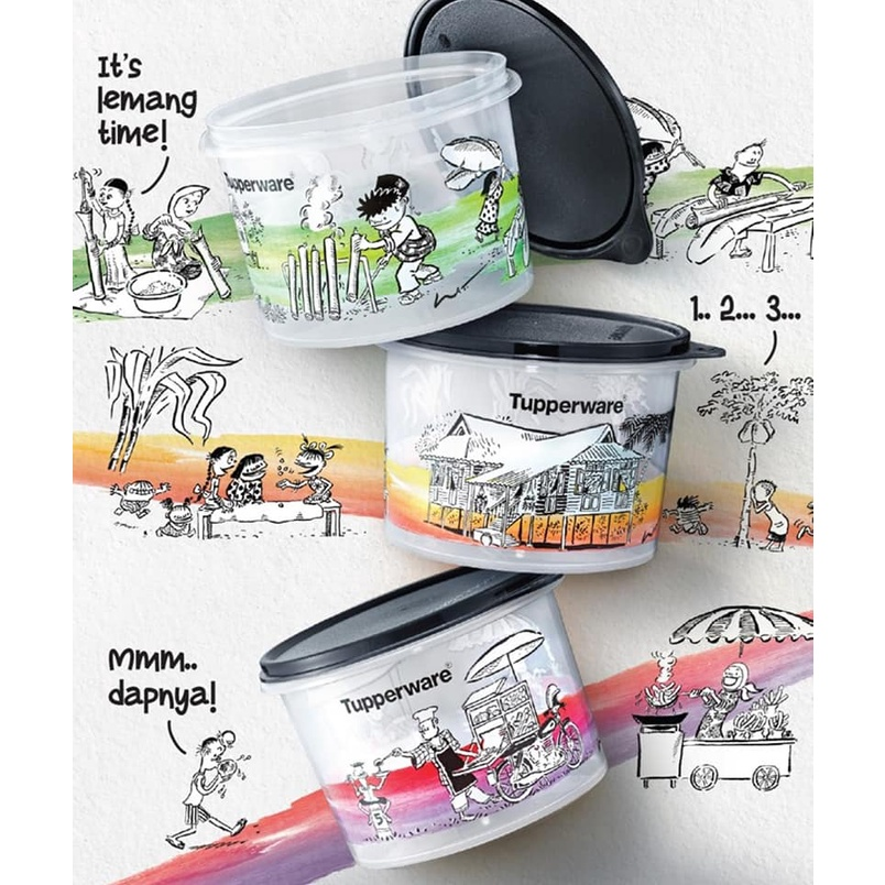 LIMITED EDITION LAT Kampung Boy Collection with Gift Box Canister (3) 1.1L eith Gift Box