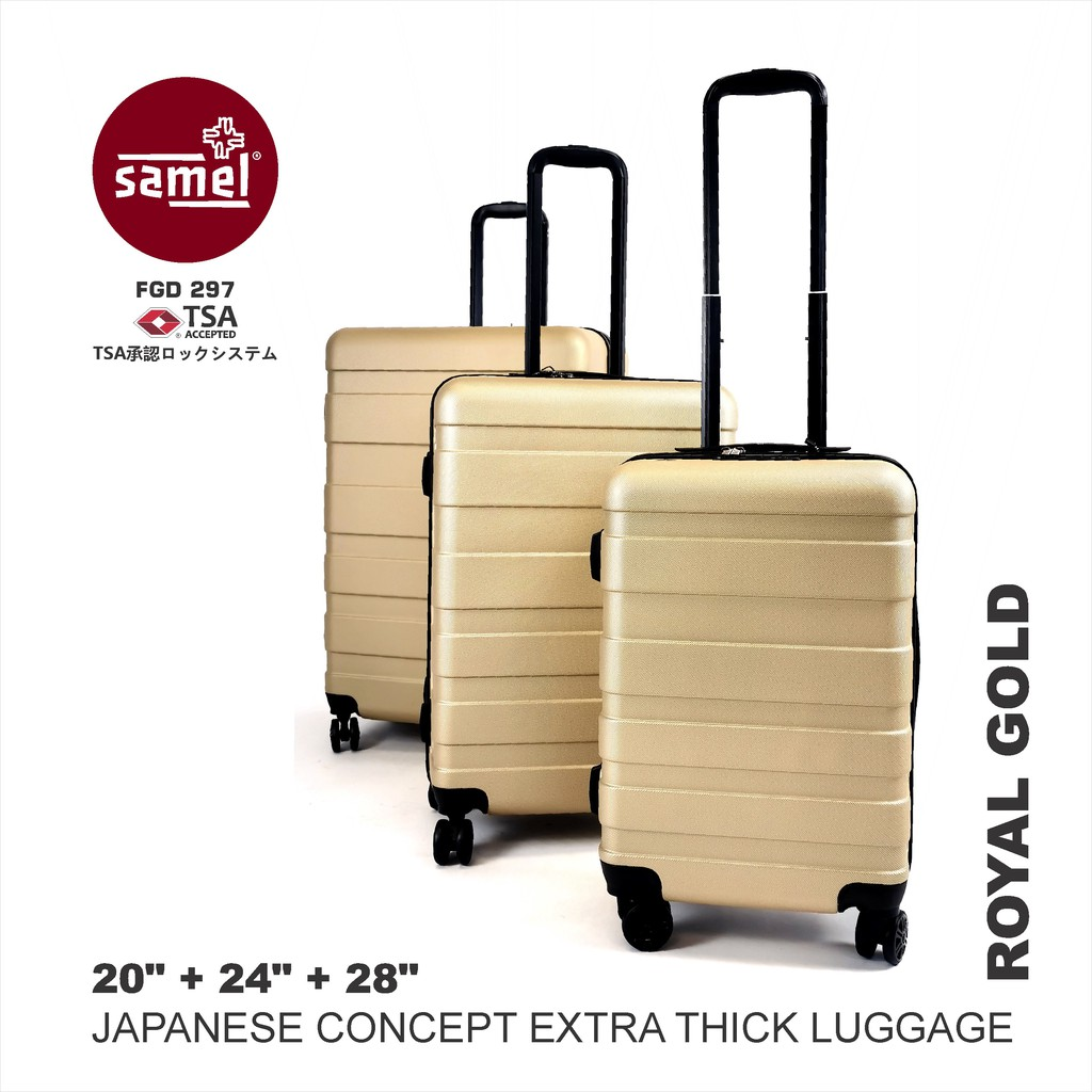 3 IN 1 SET FGD 297 JAPANESE CONCEPT EXTRA THICK LUGGAGE 20'' 24'' 28''